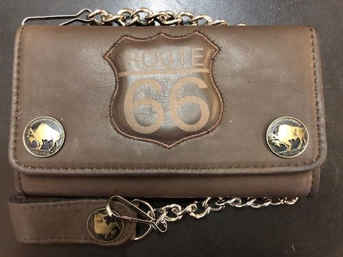 Wallet Route 66 Braun